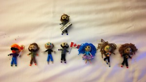 Dolls made in the team's likeness. Don't stick pins in them.